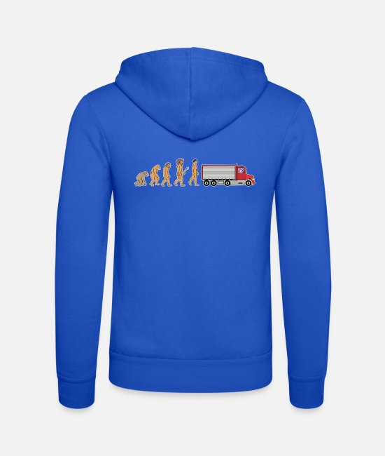 Logistics Hoodies & Sweatshirts - Funny Female Truck Driver Evolution Truck Gift - Unisex Zip Hoodie royal blue