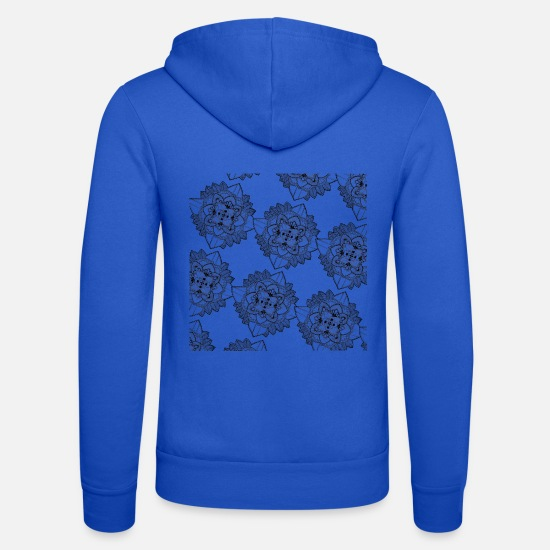 Calm Hoodies & Sweatshirts - Mandala Pattern - Unisex Zip Hoodie royal blue