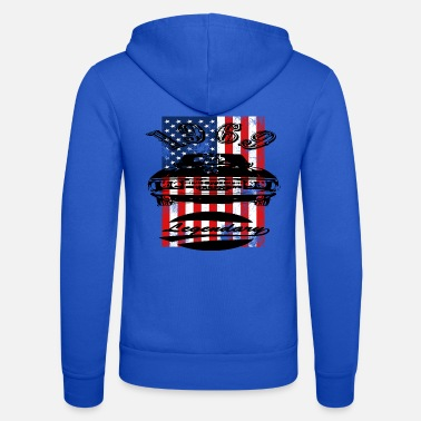 Usa Muscle Car USA Flagge - Unisex Kapuzenjacke