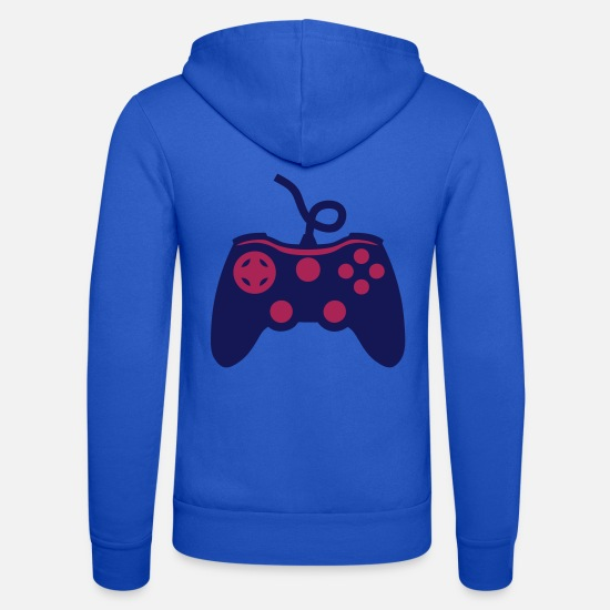 Geek Sweat-shirts - manette joystick jeux video 1 13 - Veste à capuche unisexe bleu royal