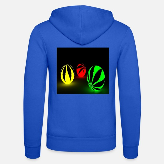 Gift Idea Hoodies & Sweatshirts - 3 colorful neon balls - Unisex Zip Hoodie royal blue