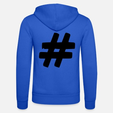 Tag Tag it to hashtag - Unisex Zip Hoodie