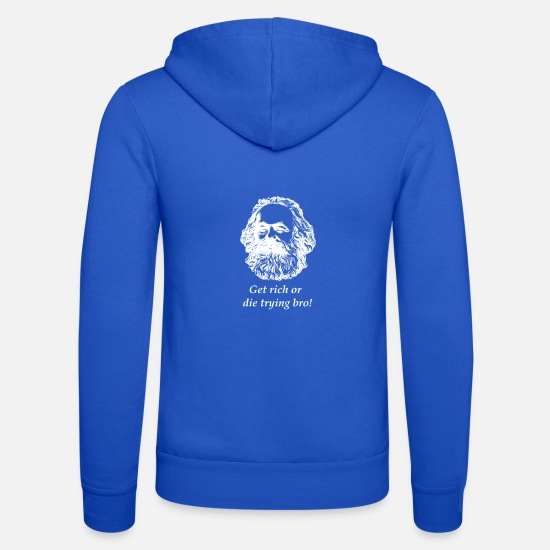 Wealth Hoodies & Sweatshirts - Get Rich Bro - Unisex Zip Hoodie royal blue