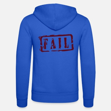 Fail fail writing - Zip hoodie unisex