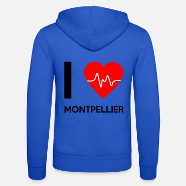 Montpellier I Love Montpellier - I love Montpellier - Unisex Zip Hoodie