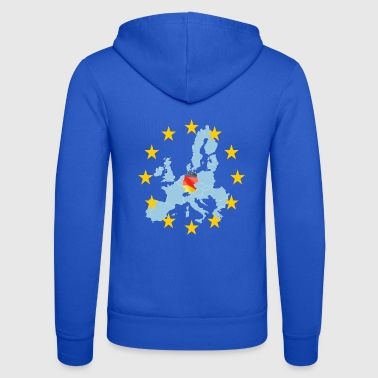 EU Germany (Germany Europe) - Unisex Hooded Jacket by Bella + Canvas