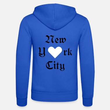New York City Ja New York City, York, New York City, Ystävänpäivä, ilove - Unisex Bella + Canvas -hupputakki