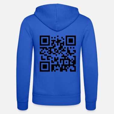 Nachricht Please don't scan my T-shirt (QR Code) - Unisex Kapuzenjacke