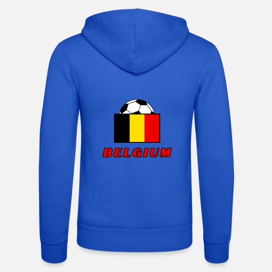 Équipe Nationale Sweat-shirts - Conception de l'équipe nationale BELGIQUE - Veste à capuche unisexe bleu royal