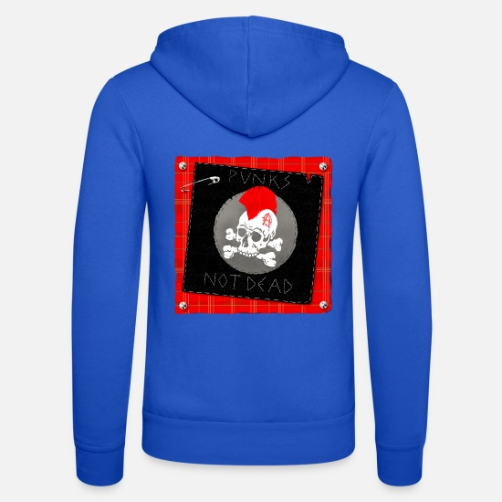 Ska Punk Hoodies & Sweatshirts - punks not dead - Unisex Zip Hoodie royal blue