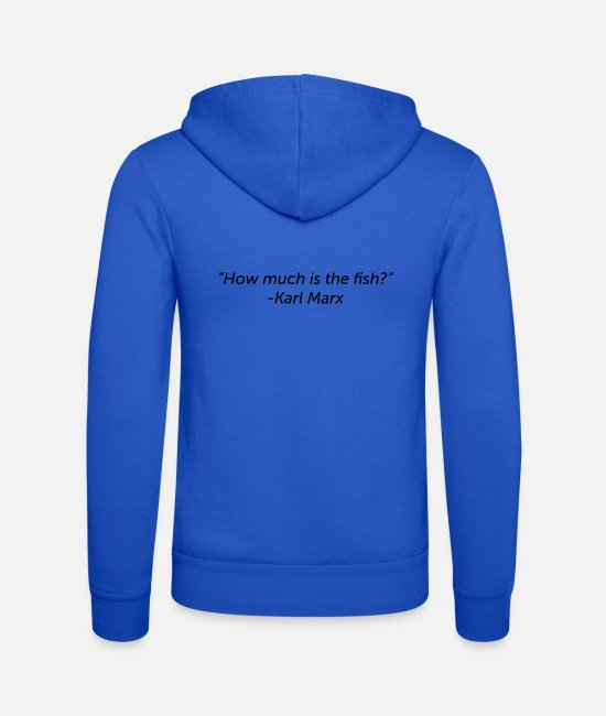 Quote Hoodies & Sweatshirts - Wrongly assigned quote: Karl Marx - Unisex Zip Hoodie royal blue
