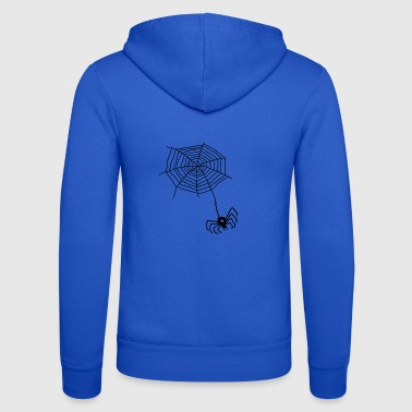 Net Spider on the net - Unisex Hooded Jacket by Bella + Canvas