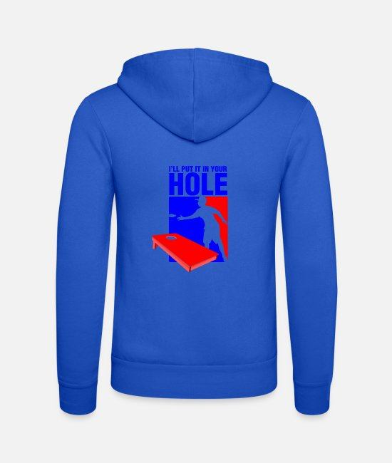 Hipster Hoodies & Sweatshirts - I LL put it in your hole - Unisex Zip Hoodie royal blue