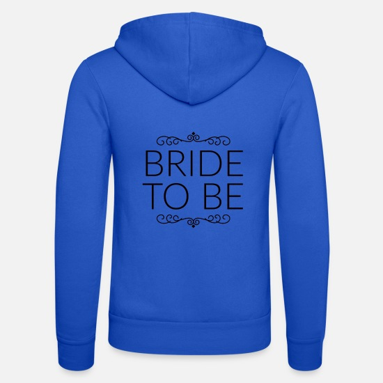 Highway To Hell Felpe - bride to be, addio al nubilato per la sposa - Felpa con zip unisex blu royal