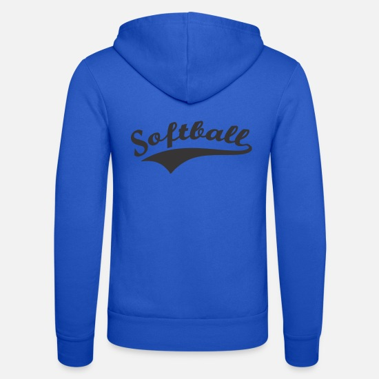 Softball Sweat-shirts - softball - Veste à capuche unisexe bleu royal