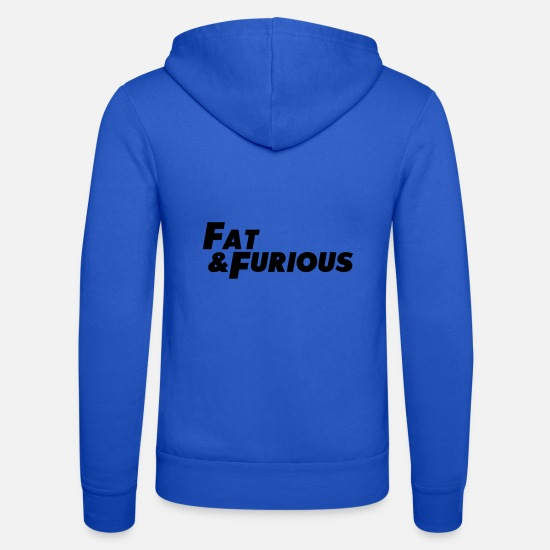 Fat Hoodies & Sweatshirts - fat & furious - Unisex Zip Hoodie royal blue
