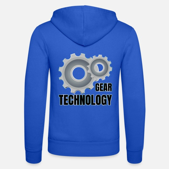 Technologie Sweat-shirts - TECHNOLOGIE DES ENGRENAGES - Veste à capuche unisexe bleu royal