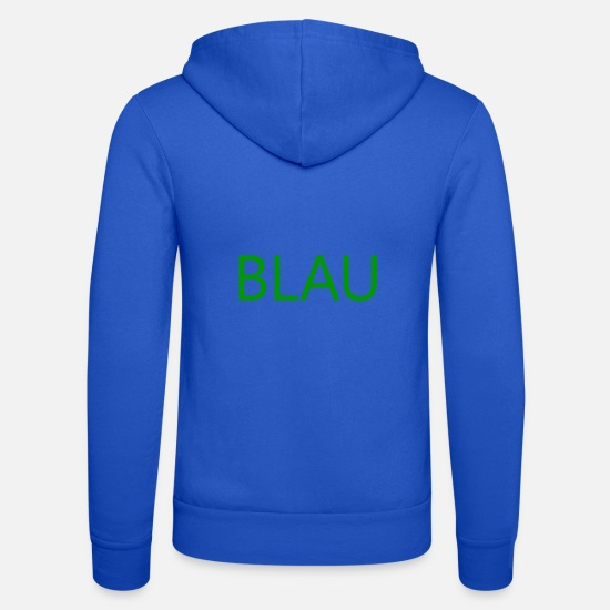 Blue White Hoodies & Sweatshirts - blue - Unisex Zip Hoodie royal blue