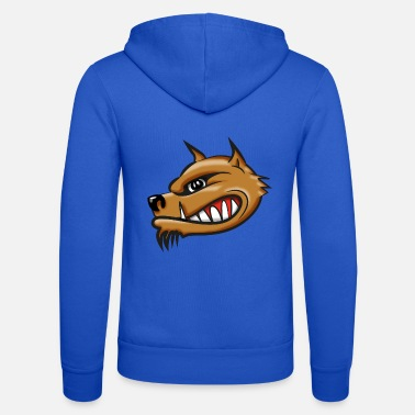 Airbrush Hyena cartoon airbrush - Unisex Hooded Jacket by Bella + Canvas