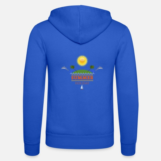 . Hoodies & Sweatshirts - Summer holiday - Unisex Zip Hoodie royal blue