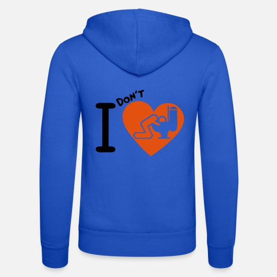 Amore Felpe - amore cuore vomito chiotte 7 wc wc alcohol 1 - Felpa con zip unisex blu royal