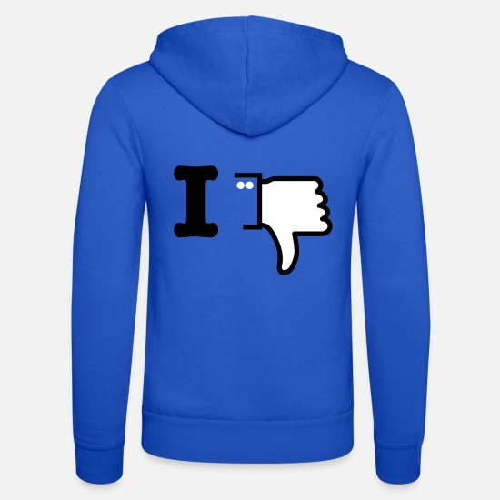 I Love Hoodies & Sweatshirts - I dislike deluxe 2c - Unisex Zip Hoodie royal blue