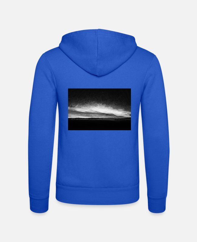 Nature Hoodies & Sweatshirts - idyllic sunset starry sky digiölbw - Unisex Zip Hoodie royal blue
