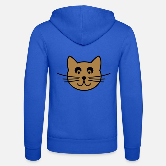 Symbol  Hoodies & Sweatshirts - Cat face - Unisex Zip Hoodie royal blue