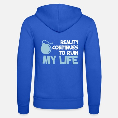 Funny Quotes Funny Quotes. Quote. Humor. gift - Unisex Hooded Jacket by Bella + Canvas