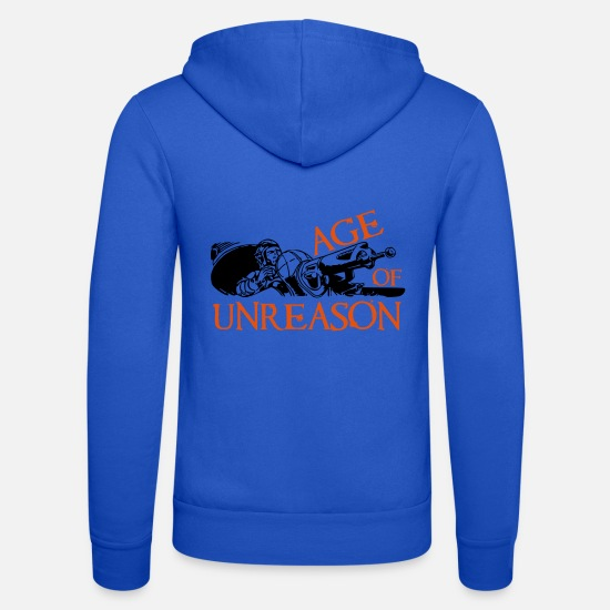 2019 Hoodies & Sweatshirts - Age of unreason - Unisex Zip Hoodie royal blue