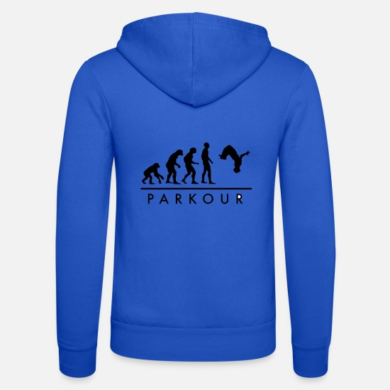 Évolution Sweat-shirts - Parkour Evolution - Veste à capuche unisexe bleu royal