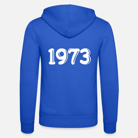 1973 Sweat-shirts - Vintage 1973 - Veste à capuche unisexe bleu royal