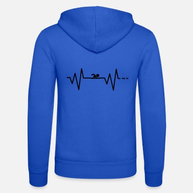 Ecg Heartbeat swimming / swimming / sports / hobbies - Unisex Zip Hoodie