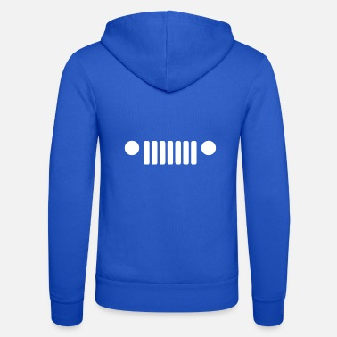 Car Grill Grille of a car - Unisex Zip Hoodie