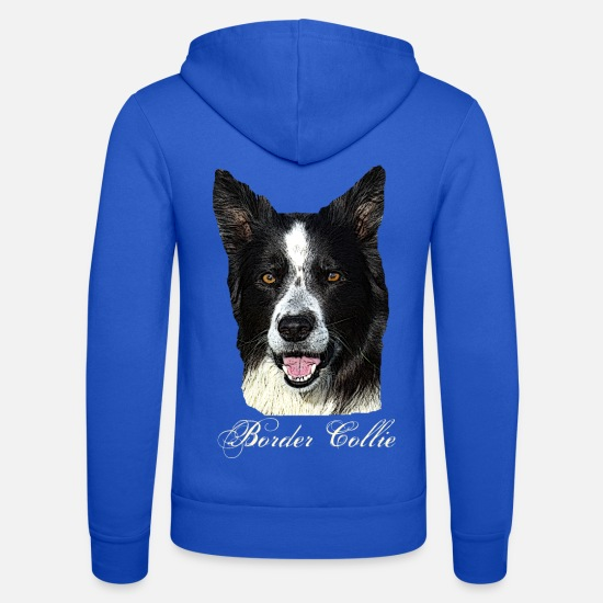 Dog Owner Hoodies & Sweatshirts - Border Collie, Colli, Herding Dog, Agility, Purebred Dog, - Unisex Zip Hoodie royal blue