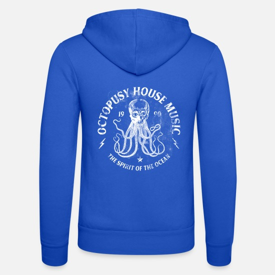 House Hoodies & Sweatshirts - ELECTRO ☆ Otopusy House Music ☆ - Unisex Zip Hoodie royal blue