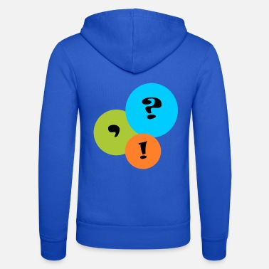 Punctuation Marks punctuation mark - Unisex Zip Hoodie