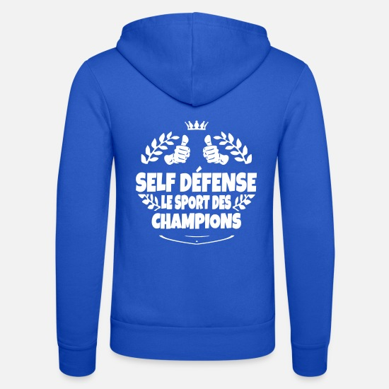 Défense Sweat-shirts - self defense le sport des champions - Veste à capuche unisexe bleu royal