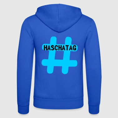 Hashtag Hashtag hashtag blue - Unisex Hooded Jacket by Bella + Canvas