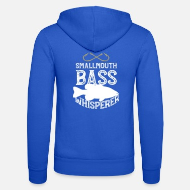 Funny Fishing Funny Smallmouth Bass Fishing Freshwater Fish Gift - Unisex Zip Hoodie