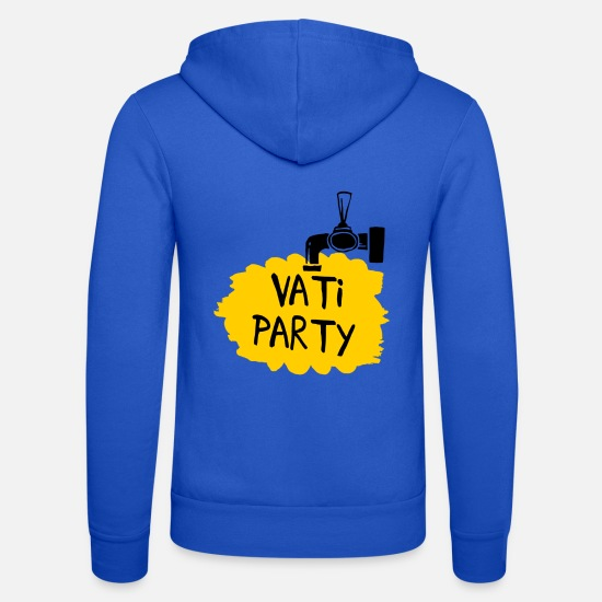 Alcohol Hoodies & Sweatshirts - Daddy Party (Father's Day) - Unisex Zip Hoodie royal blue