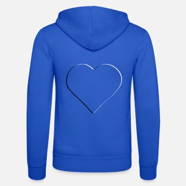 3d Heart transparent embossed - Unisex Zip Hoodie