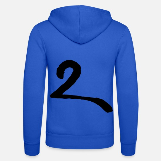 Cipher Hoodies & Sweatshirts - 2 two two due - Unisex Zip Hoodie royal blue