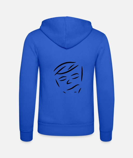 Fashion Hoodies & Sweatshirts - face - Unisex Zip Hoodie royal blue