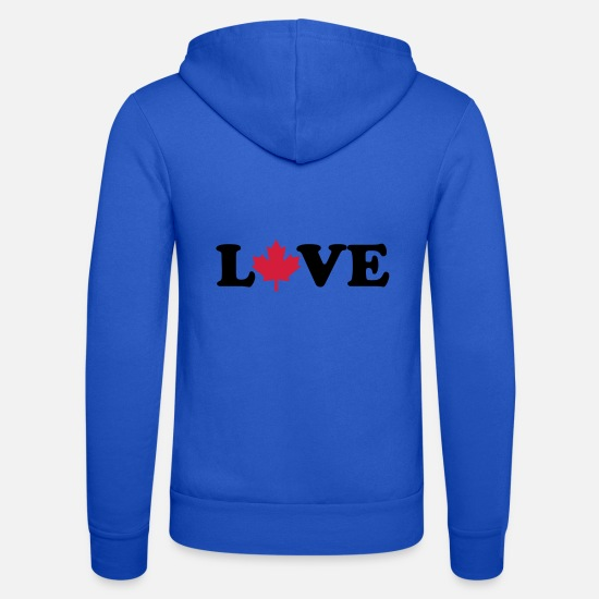Love Hoodies & Sweatshirts - Canada - Unisex Zip Hoodie royal blue