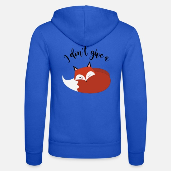 Räv Tröjor & hoodies - I dont give a fox! - Zip hoodie unisex kungsblå