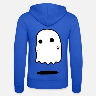 Invisible Scary Halloween ghost - Unisex Zip Hoodie
