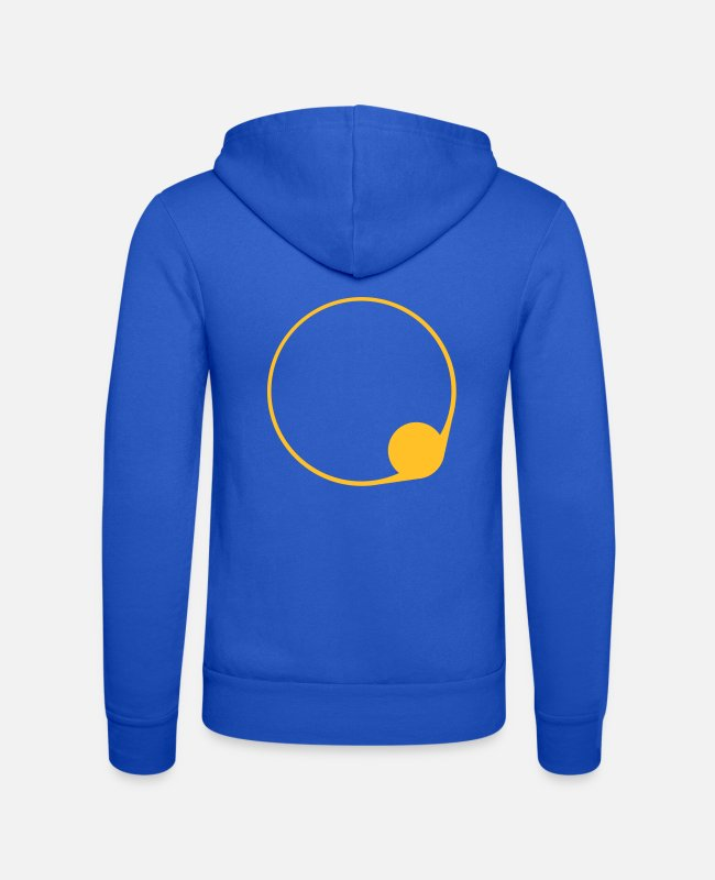 Werwolf Hoodies & Sweatshirts - sonnenfinsternis_symbol2 - Unisex Zip Hoodie royal blue
