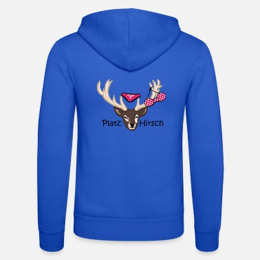 Stag Underwear Square deer gift idea macho birthday - Unisex Zip Hoodie