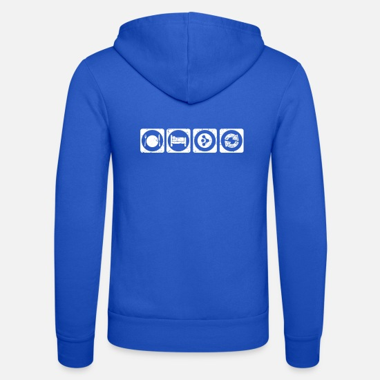 Bitcoin Pullover & Hoodies - eat sleep repeat krypto bitcoin hodl AMP krypto cr - Unisex Kapuzenjacke Royalblau